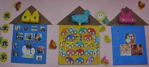 中班主题墙:我爱我家-环境创设-淮安市实验小学幼儿园